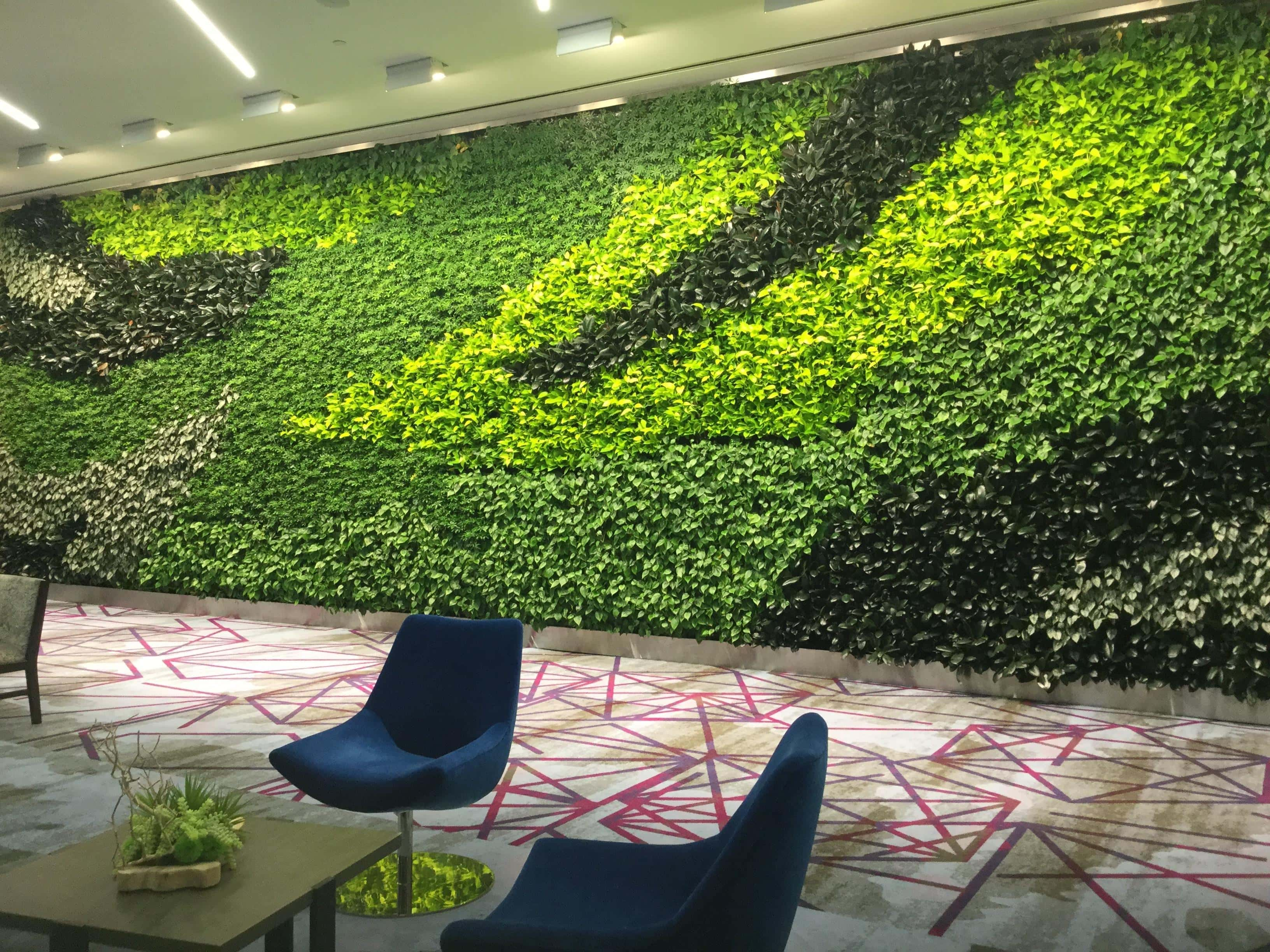 Hotel Lobby Greenwall