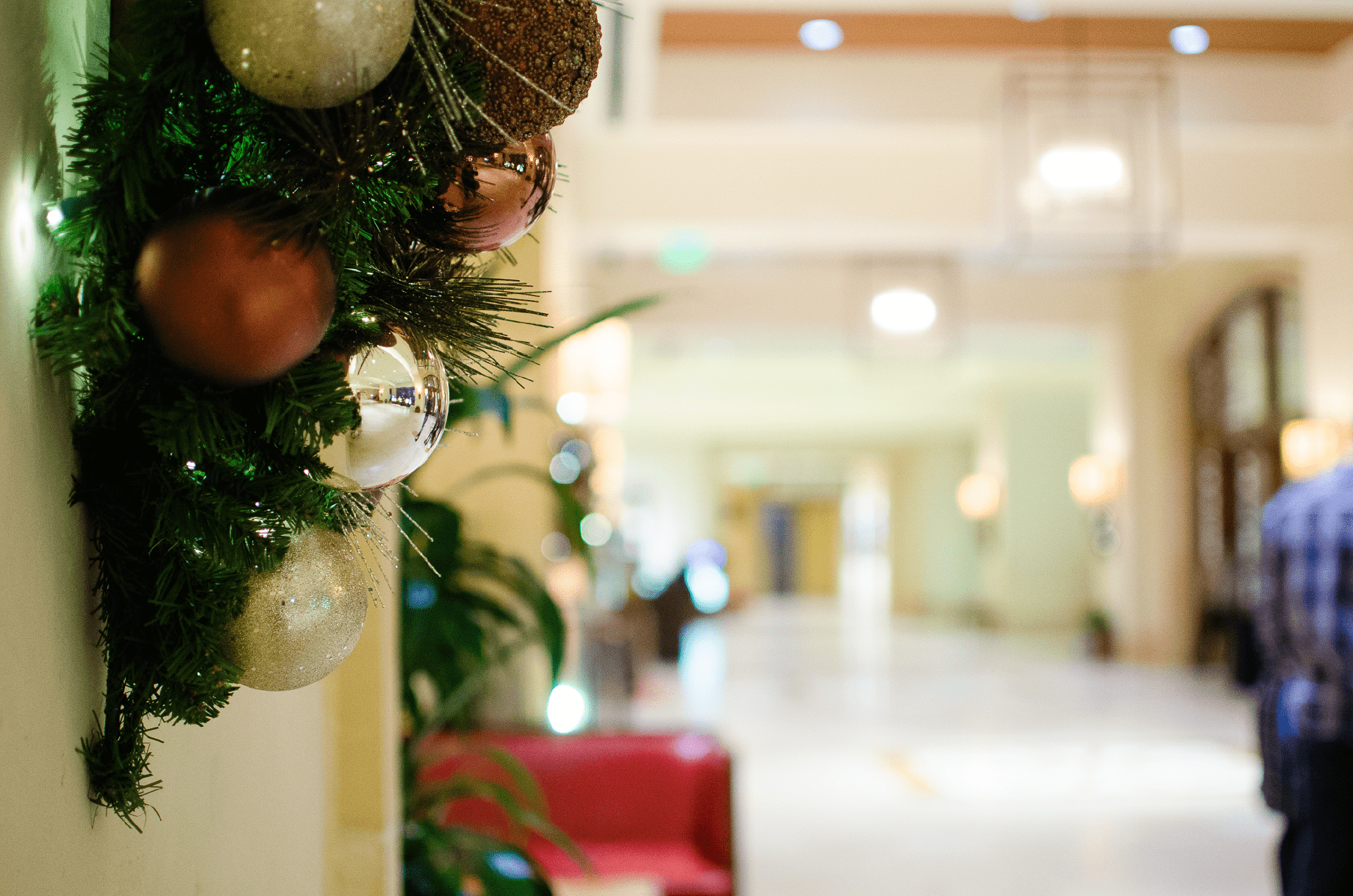 Hotel Lobby Christmas Decor