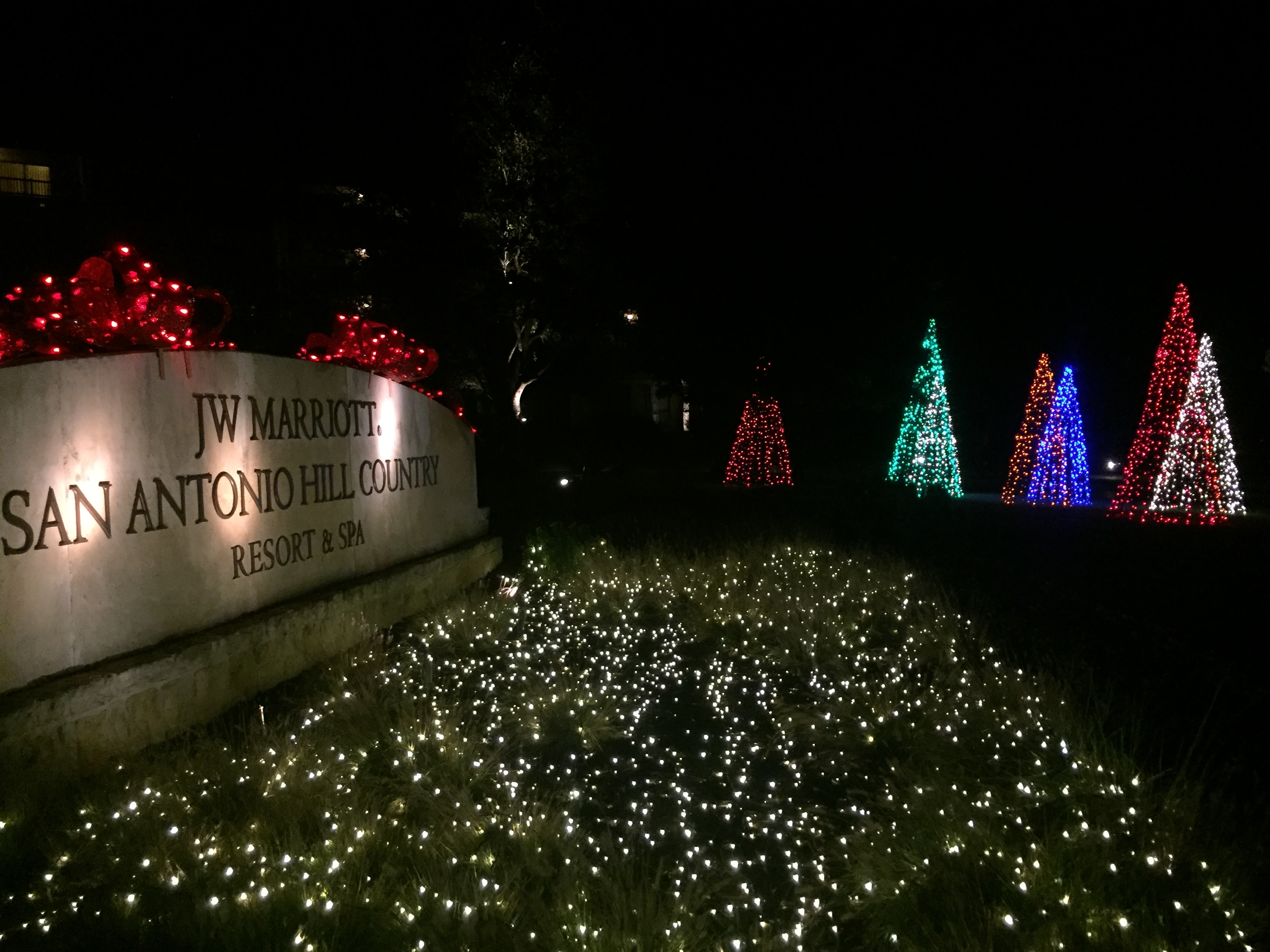 Hill Country Holiday Lights at JWM Entry