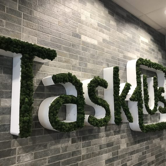 Custom Branded Moss Wall Logo