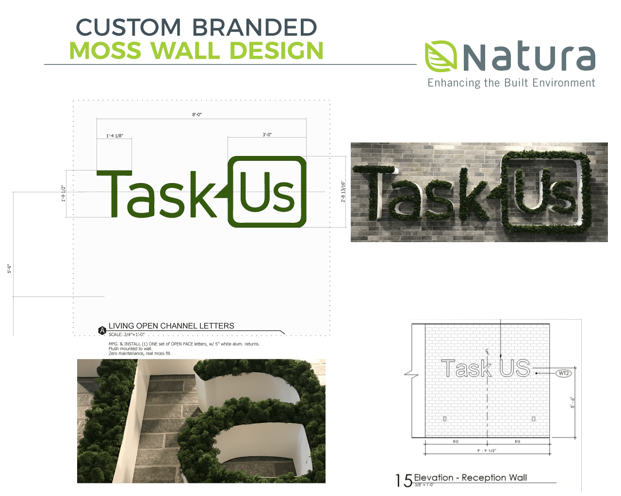 Custom Branded Logo Moss Wall