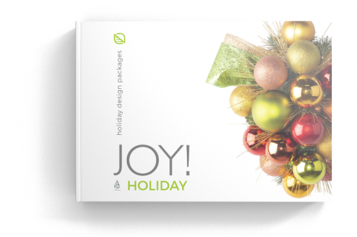 JOY Christmas Holiday Decor Packages for Buildings and Office Spaces
