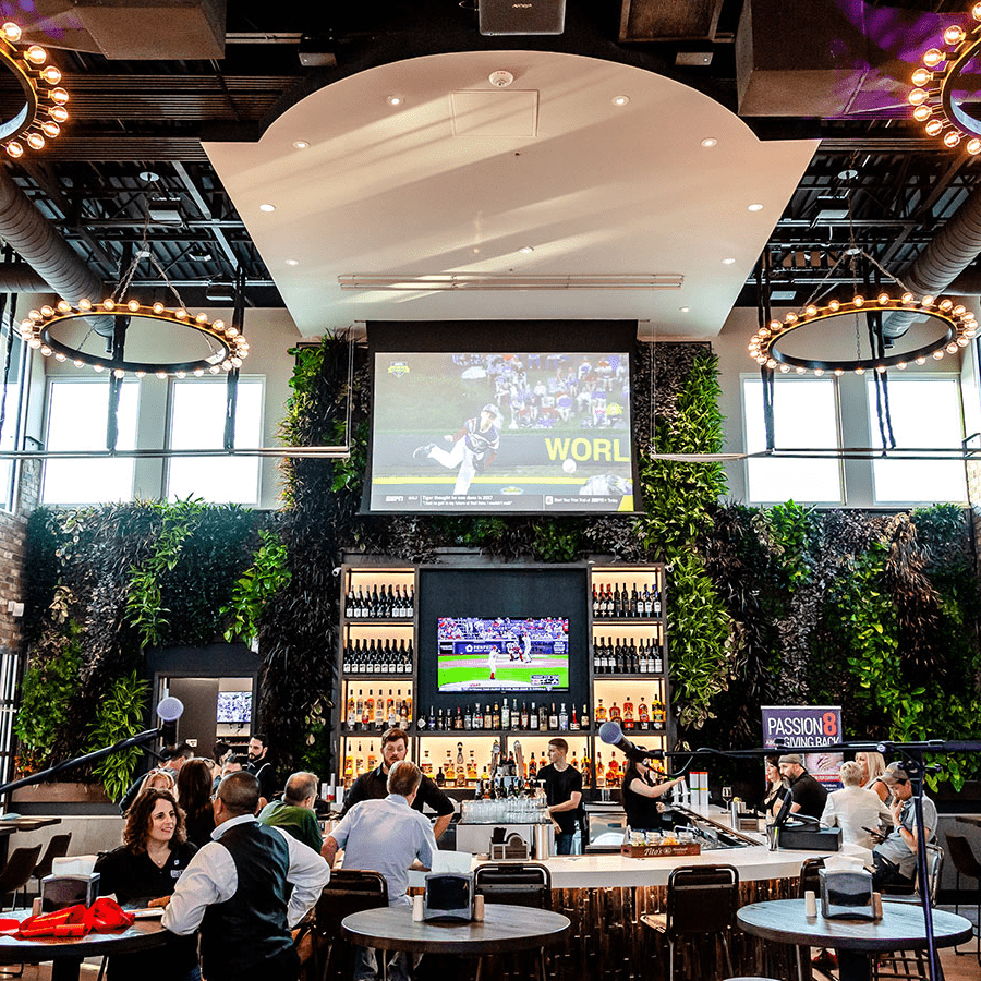 Green Wall in Dallas, Texas | Urban 8 Food Court