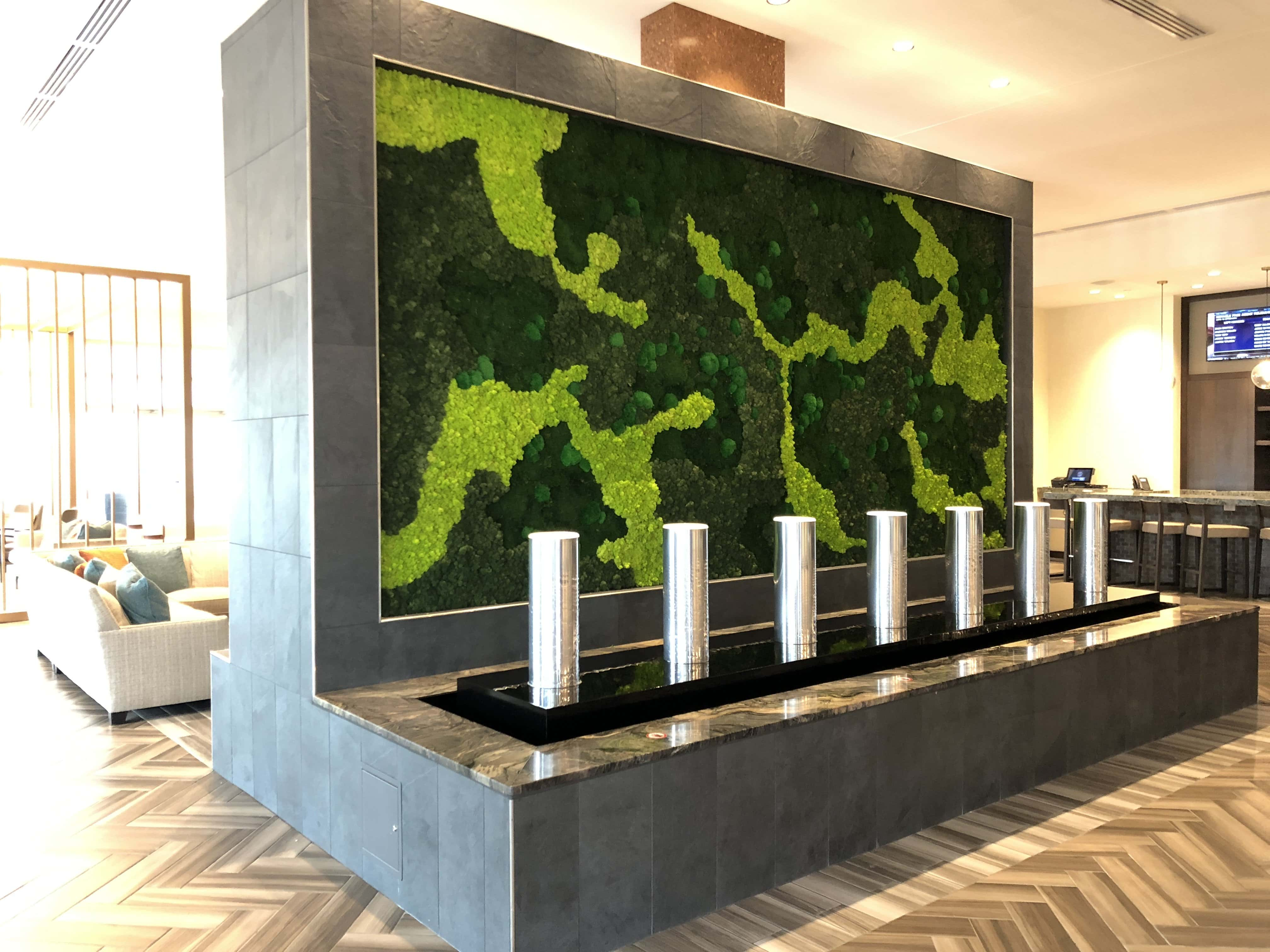 Moss Wall at Embassy Suites Landmark by Natura