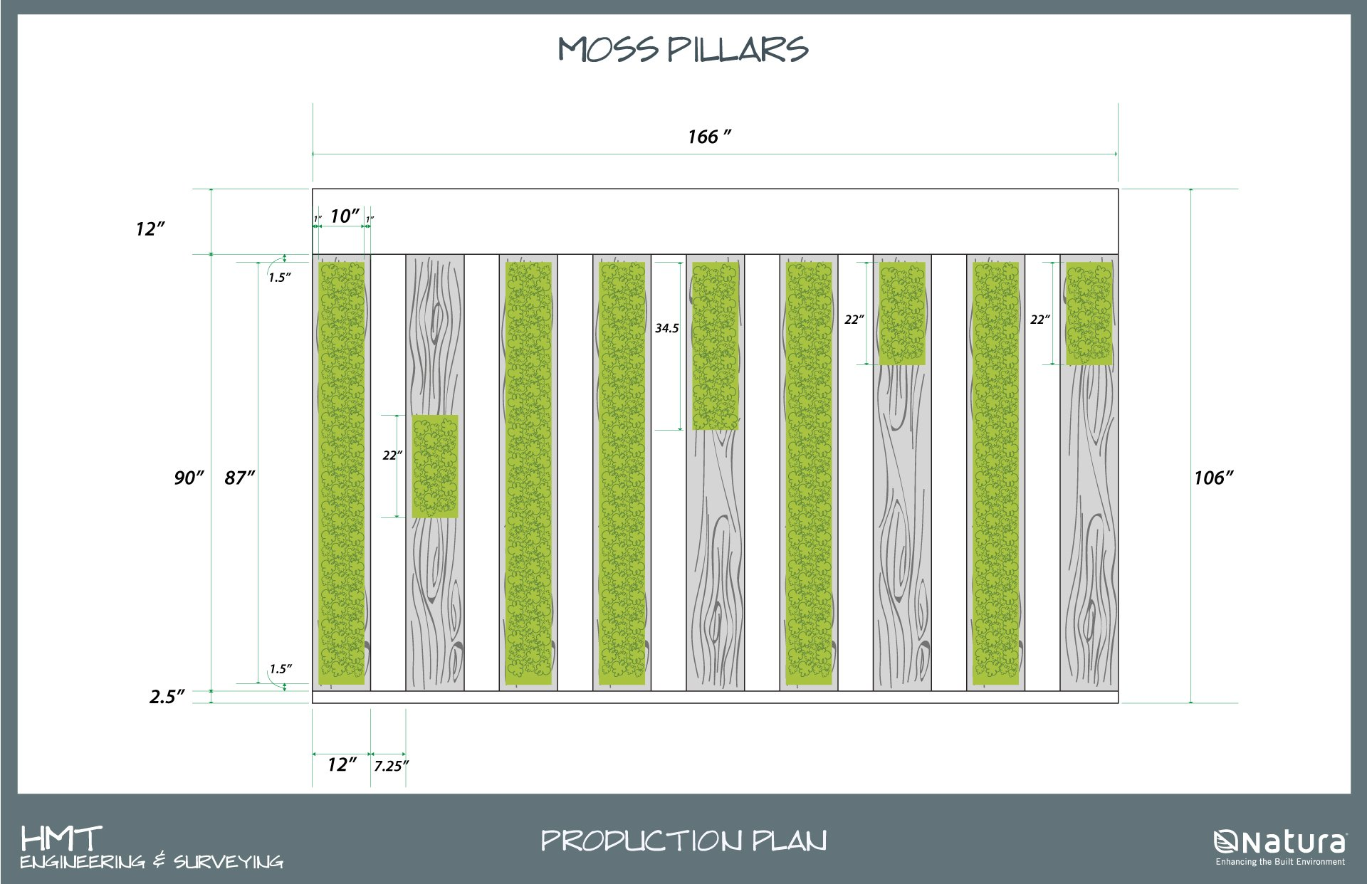 Custom Moss Wall Design - Production Plan