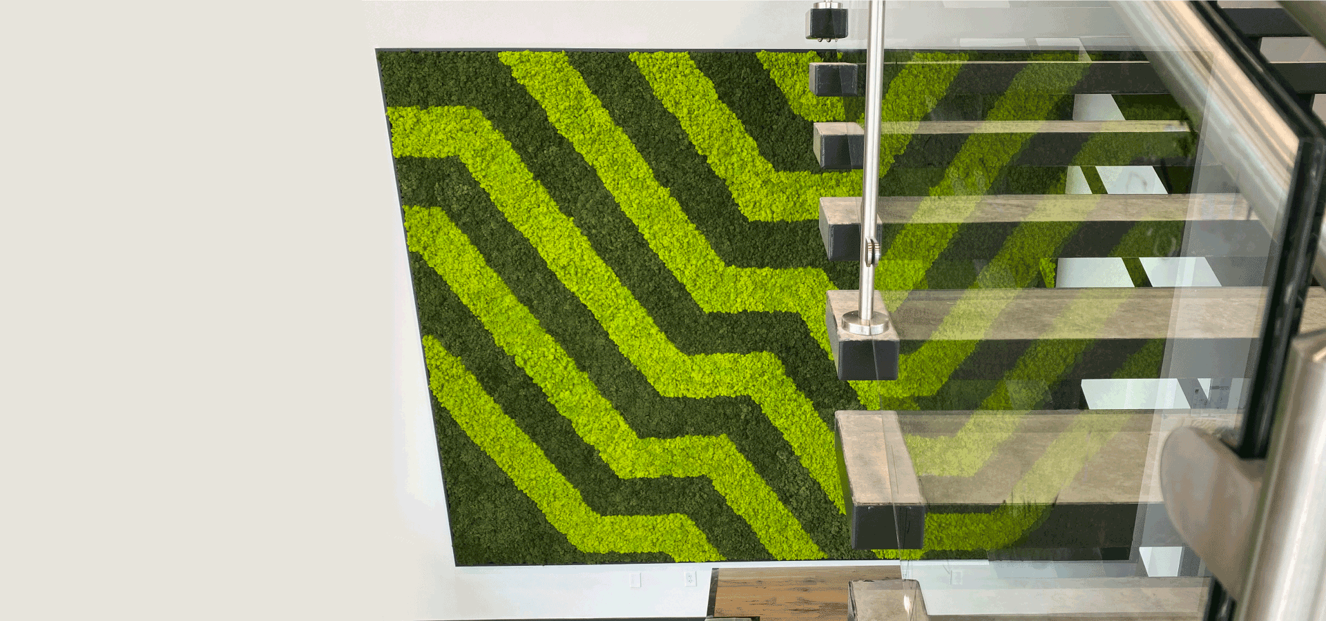 Geometric Moss Wall Design by Natura