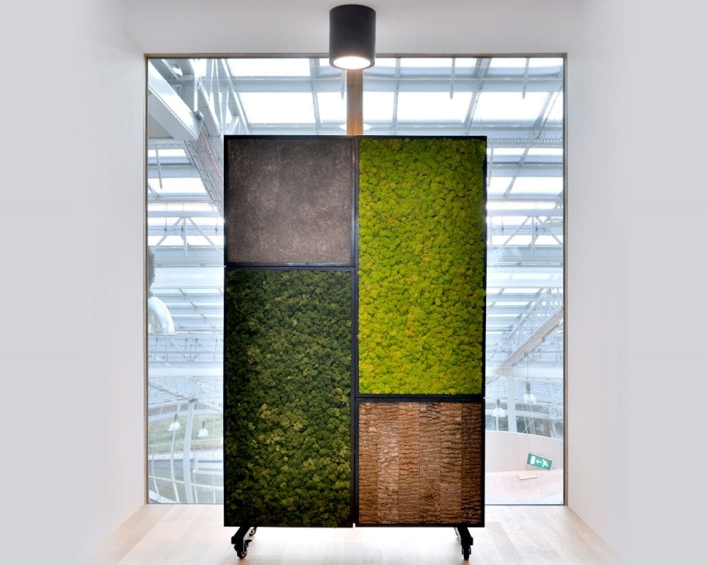 Moss Wall Office Dividers