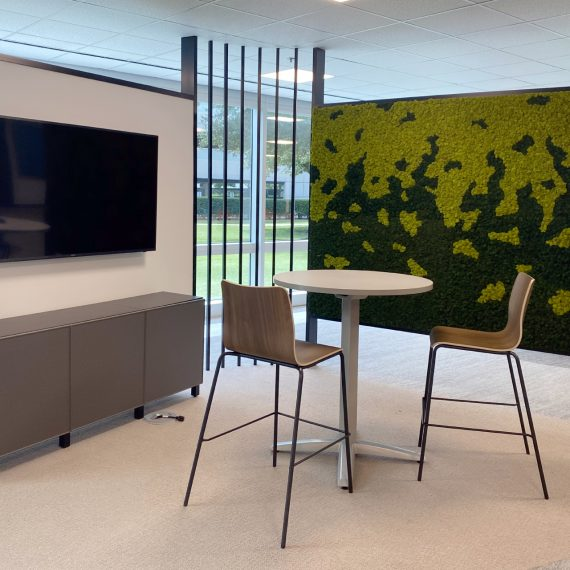 Free-Standing Moss Wall Design for Houston Office